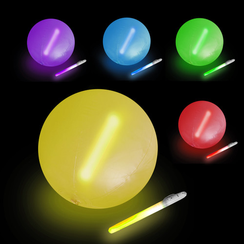 "10"" Assorted LED Beach Ball"
