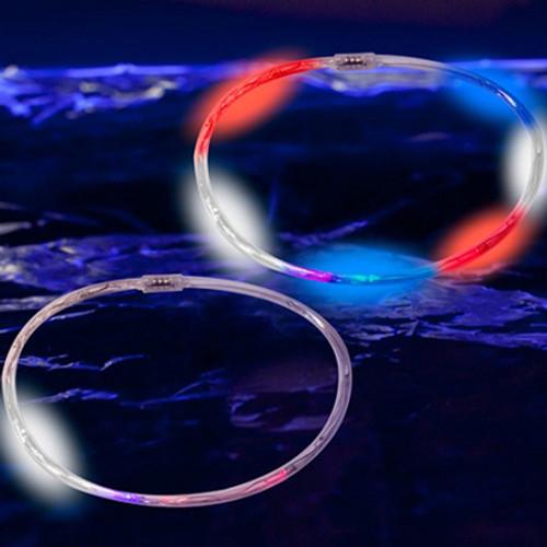 """23.5"""" RWB LED Chaser Necklace"""