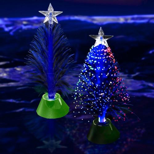 "11.5"" Fiber Optic Christmas Tree Centerpiece"