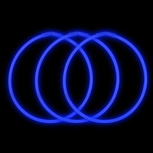 """22"""" Premium Glow Necklaces Blue (50 per Pack)"""
