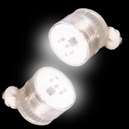 Blinking LED Earrings: White