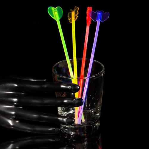 "9"" Assorted Glow Stir Sticks (4 Pack)"