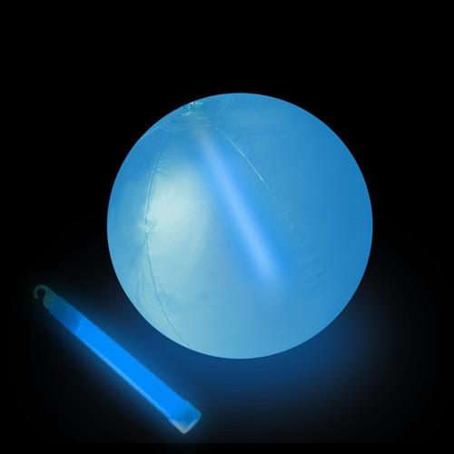 """10"""" Blue Glow Beach Ball"""