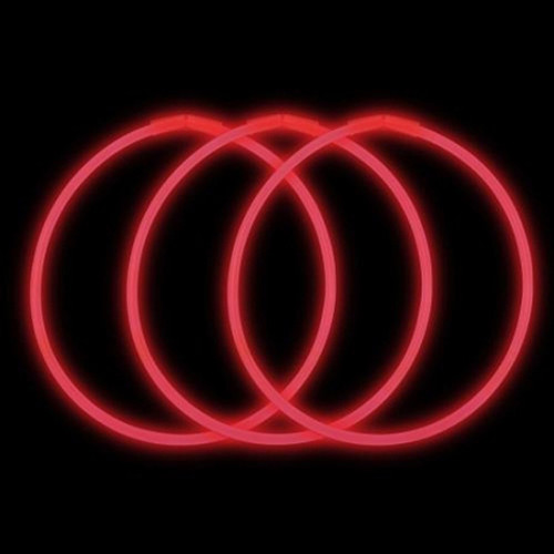 "22"" Red Premium Glow Necklaces (50 pack)"