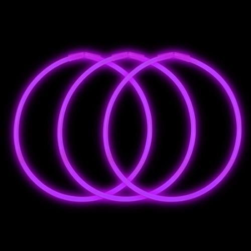"""22"""" Premium Glow Necklaces Purple (50 per Pack)"""