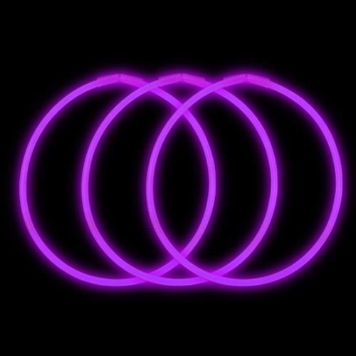 "22"" Purple Premium Glow Necklaces (50 Pack)"