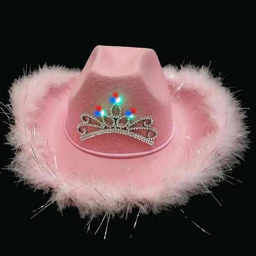 LED Premium Cowboy Hat -Pink