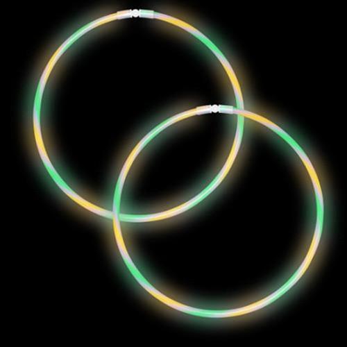 "22"" Premium Swirl Glow Necklaces Green/Yellow/Purple (50 per Pack)"