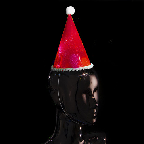Red Flashing Party Hat (6 Pack)