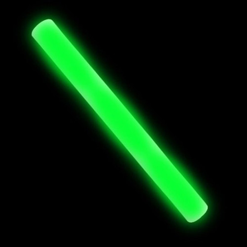 "16"" Green LED Foam Stick"