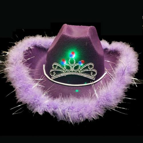 LED Premium Cowboy Hat - Purple