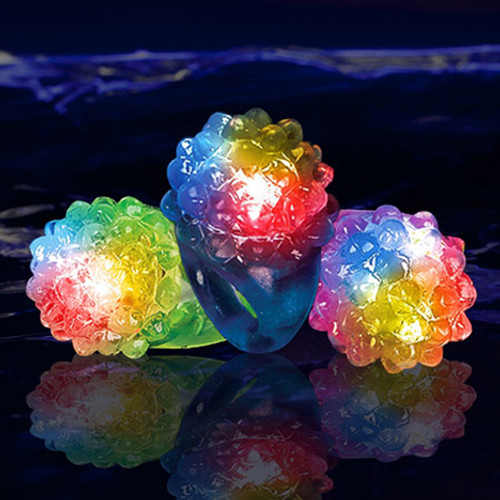 Assorted Light Up Bumpy Jelly Rings (24 Pack)