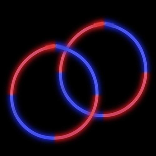 "22"" Premium Bi-Color Glow Necklaces Red/Blue (50 per Pack)"