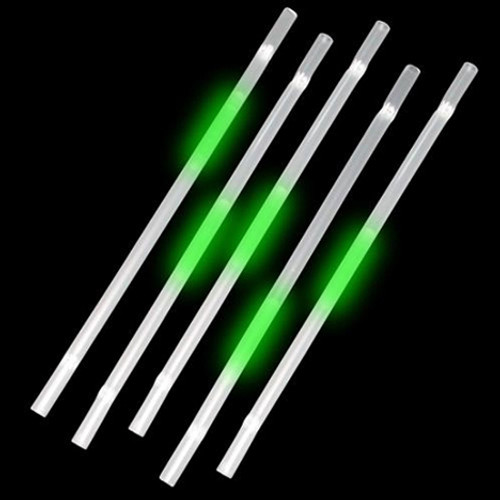Green Glow Straws (25 Per Pack!)