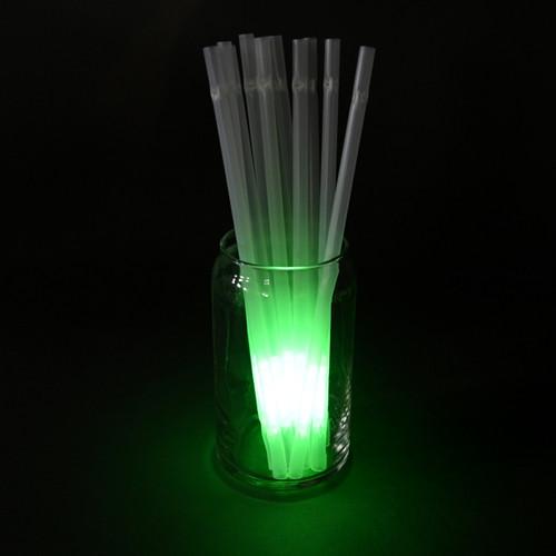 Green Glow Straws (25 Pack)