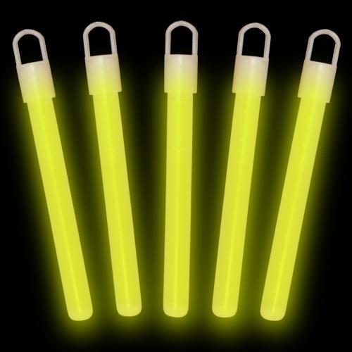 """4"""" Yellow Premium Glow Sticks (50 Pack)"""
