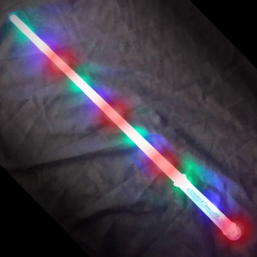 """28"""" FLASHING SWORD WITH CLEAR HANDLE"""