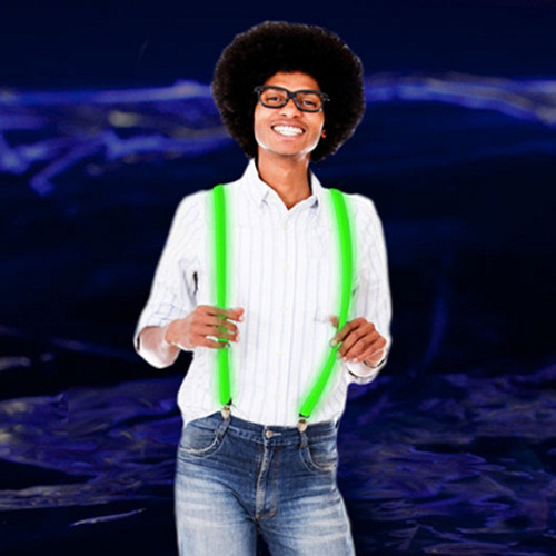 LED Light Up Suspenders: Green