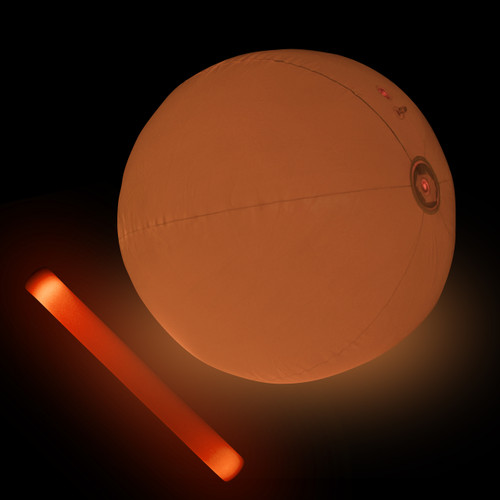 "24"" Orange LED Beach Ball"