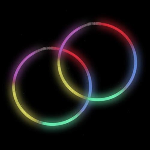 "22"" Rainbow Premium Glow Necklaces (50 pack)"