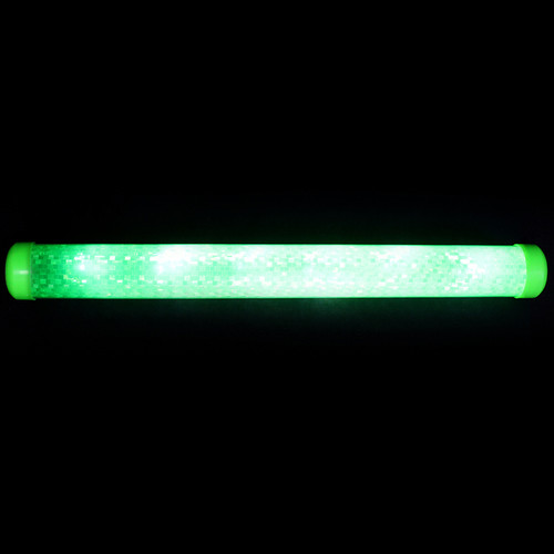 LED Hologram paper lined wand - Green