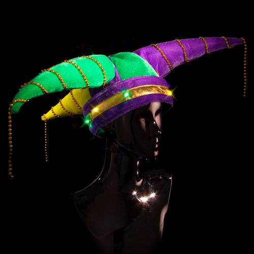 Multicolor Light Up Jester Hat