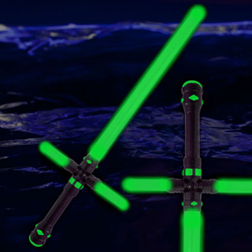 "34.5"" LED Light Up Tri-Saber Green"