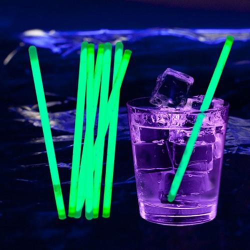 "5"" Green Glow Stir Sticks (100 Pack)"