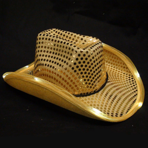 Gold Light Up Cowboy Hat