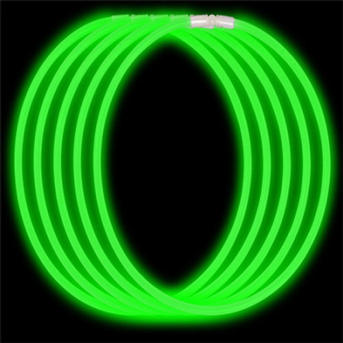 """22"""" Green Economy Glow Necklace (50 Pack)"""