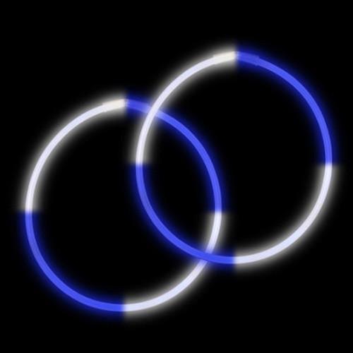 "22"" Premium Bi-Color Glow Necklaces Blue/White (50 per Pack)"