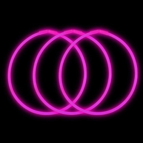 "22"" Premium Glow Necklaces Pink (50 per Pack)"