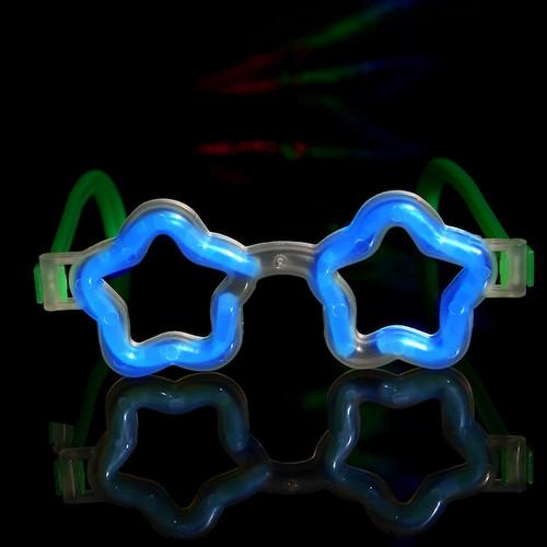 Blue Star Shaped Glasses (12 Pack)