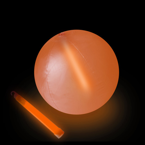 "10"" Orange Glow Beach Ball"