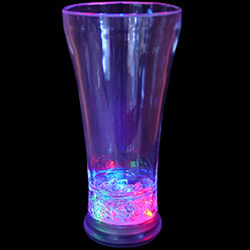 Lighted Pilsner Glass with Gel R/G/B