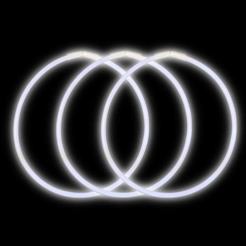 """22"""" Premium Glow Necklaces White (50 per Pack)"""