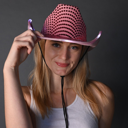 Pink Light Up Cowboy Hat