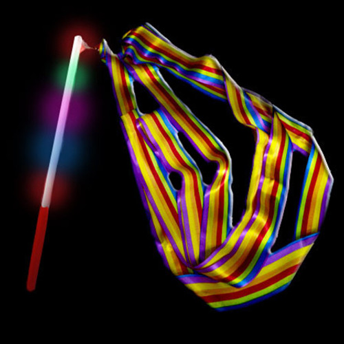 Light Up Wand with Ribbon