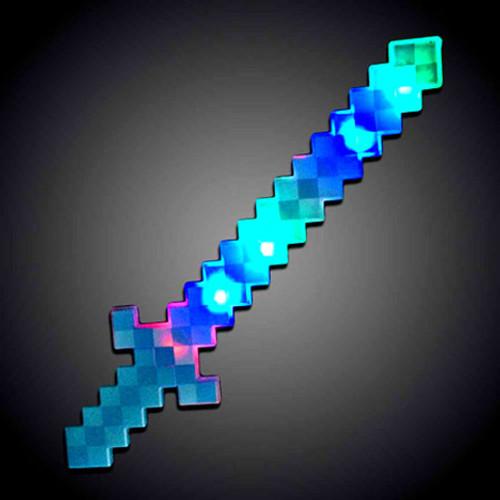 "24"" Light Up Blue Pixel Sword RGB"