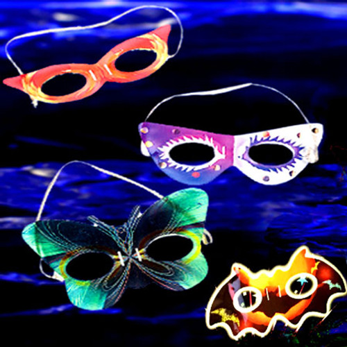 Assorted Glow Masks (8 Pack)