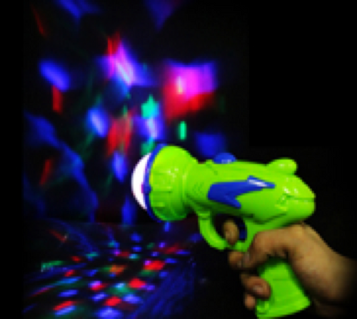 LED Gun with Prism Ball- RBG LED's - green