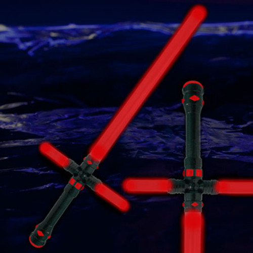 """34.5"""" LED Light Up Tri-Saber Red"""