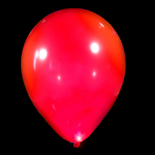Red LED Balloons 5 Pack (NEW!)