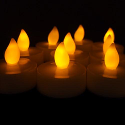 White Flameless Tea Light - Singles