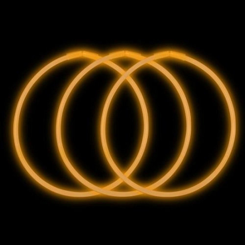 "22"" Premium Glow Necklaces Orange (50 per Pack)"