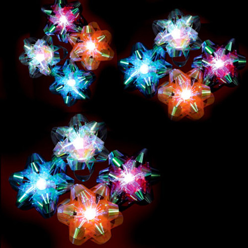 LED Fiber Optic Gift Bow- 6 pack (Blue, Gold, Silver, Red, White, Green)