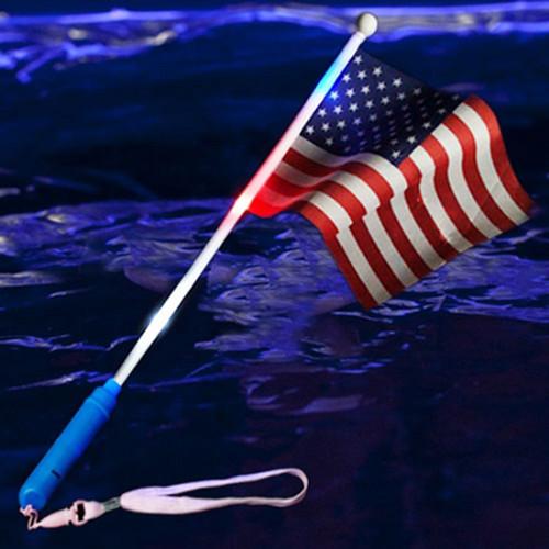 Flashing American Flag Wand