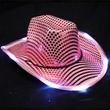 ca24bc5b1 Pink Light Up Cowboy Hat