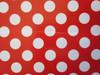 Wedding Polka Dot Popcorn Reception Favour Boxes Red