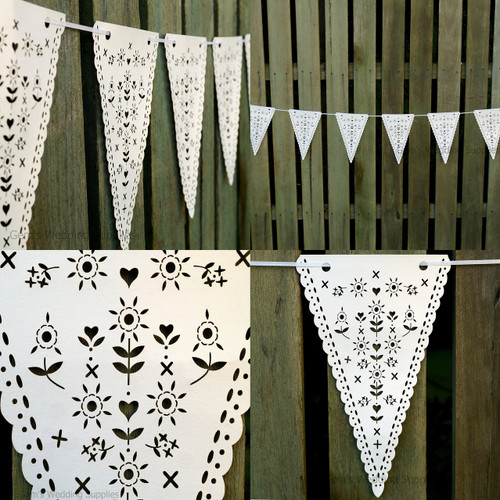 Wedding Bunting Banner Hanging Decoration Laser Cut